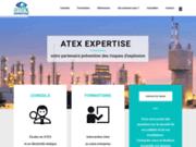 screenshot https://www.atex-expertise.com Explosion en milieu industriel