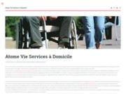 screenshot http://www.atomevie-services-domicile.com service à la personne val de marne et seine et marne