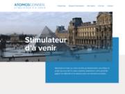 screenshot http://www.atomos-conseil.com atomos conseil - coaching et conseil en évolution professionnelle