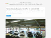 screenshot http://www.attin-automobiles.fr vente véhicules neufs et occasions, entretien...