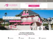 screenshot http://www.au-primerose-hotel.fr hôtel argelès-gazost