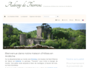 screenshot http://www.auberge-thorrenc.Com chambres d'hotes ardeche : auberge de thorrenc