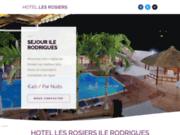 screenshot http://www.aubergeslesrosiers.com ile rodrigues hotel , hebergement ile rodrigues