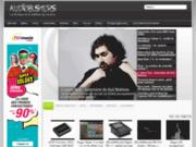screenshot http://www.audiobusters.com audiobusters.com la musique et le matériel