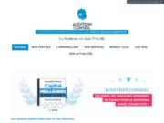 screenshot http://auditionconseil-lyon.fr/centre Correction de la surdité à Lyon