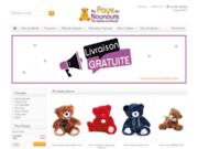 screenshot http://www.aupaysdenounours.com au pays de nounours : ours en peluche