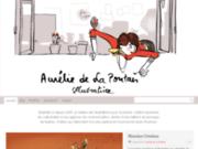 screenshot http://www.aureliedelapontais.com Illustrateur freelance