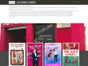 screenshot http://www.aurestau-theatre.com/ restaurant gastronomique à angers et théâtre.