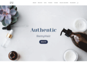 screenshot http://www.authentic-remyhair.com/ tissage de cheveux et meches brésiliennes