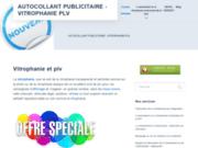 screenshot http://www.autocollant-vitrophanie.com/ Autocollant publicitaire
