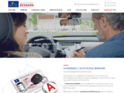 screenshot https://www.autoecolebesnard.fr/ formations code de la route et permis auto, moto à Amboise 37400