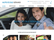 screenshot http://www.autoecolegerard.com/ Auto École Gérard