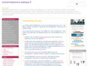 screenshot http://www.autoentrepreneur-pratique.fr l'autoentrepreneur en pratique