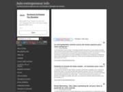 screenshot http://autoentrepreneurinfo.com Auto Entrepreneur