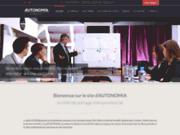 screenshot http://www.autonomia-france.com/ autonomia :portage salarial - auto entrepreneur