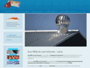 screenshot http://www.auxmilleetunetoitures.com/ toiture couverture zinguerie charpente lens lille