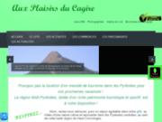screenshot http://www.auxplaisirsducagire.com hébergement spécialisé pour vttiste et cycliste