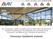 screenshot http://www.avcomposites.com/ av composite : panneau composite