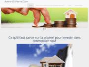 screenshot http://www.avenir-et-pierre.com nouveau logement - programme immobilier prés de tours