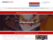 screenshot http://www.aveniretfluide.fr avenir et fluide, travaux plomberie, eau et gaz