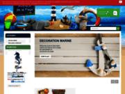 screenshot http://www.avenue-de-la-plage.com Décoration marine
