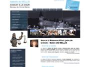 screenshot http://www.avocat-de-mellis.com avocat licenciement, val de marne