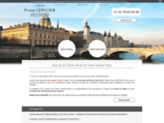 screenshot http://www.avocat-lepicier.com/ avocat exces de vitesse paris