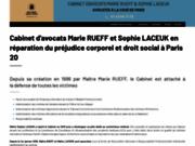 screenshot http://www.avocat-rueff.com/ indemnisation dommage corporel paris