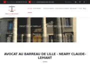 screenshot http://www.avocats-clt.com neary claude-lemant, avocat au barreau de lille