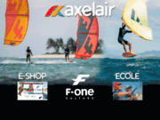 screenshot http://www.axelair.com axel'air école et magasin de kitesurf