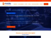 screenshot http://www.axido.fr infogérance, réseaux informatiques, maintenance informatique axido services