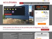 AZ Clôtures : pose de clôtures et portails près d'Haguenau