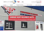 screenshot http://www.azayallianceauto.com garage, carrosserie près de Parthenay 79