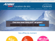 screenshot http://www.azimut-sport.com azimut sport location de ski et snowboard a cauterets