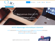 screenshot http://www.azpc-angers.fr/ AZ PC Angers