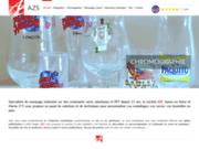 screenshot https://www.azs-marquage.com/ marquage industriel pour le verre et PET