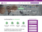 screenshot http://www.bac-st2s.fr bac st2s : 1ère et terminale