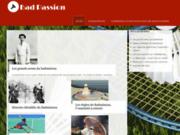 screenshot http://www.bad-passion.fr bad-passion, tout l'univers du badminton