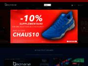 screenshot http://badmania.fr tout pour le badminton.