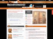 screenshot http://www.baindechaleur.com boutique de sauna