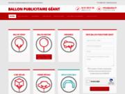 screenshot http://www.ballon-publicitaire-geant.com ballon publicitaire géant et dirigeable