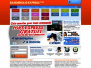 screenshot http://www.banderoles-express.com supports publicitaires