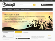 screenshot http://www.barakazik.fr barakazik, catalogue de musiques originales  illustrations sonores de qualit