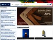 screenshot http://www.barocco-shop.com vente de matériels beaux-arts sur le web