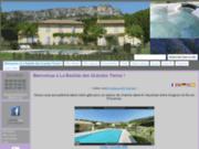 screenshot http://www.bastidegrandesterres.fr/ location avec piscine et jacuzzi privé en luberon provence