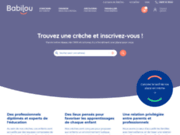 screenshot http://www.bebebiz.fr création et gestion de crèches bébébiz