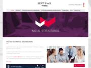 screenshot http://bert-structures.com/ structure metallique
