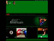 screenshot http://www.billard-americain.net/ le billard americain