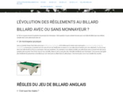 screenshot http://billard.reglement.free.fr évolution des règles au jeu de billard au fil du temps