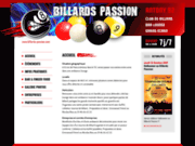 screenshot http://www.billards-passion.com billard passion antony - bar club association